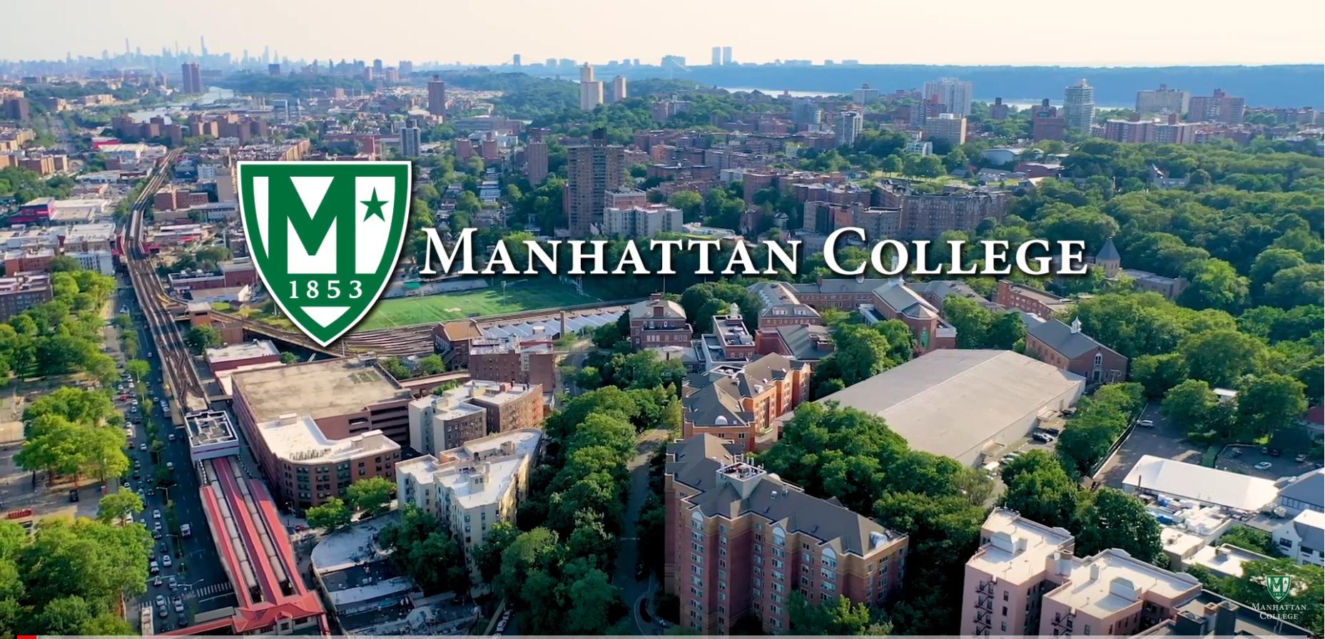 Aerial shot of Manhattan College campus